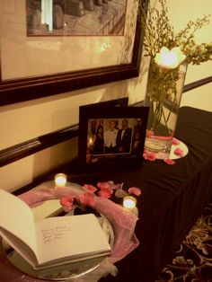 Bridal Shower sign-in table and decorations @The Parish Room at the Evangeline Downs Hotel
