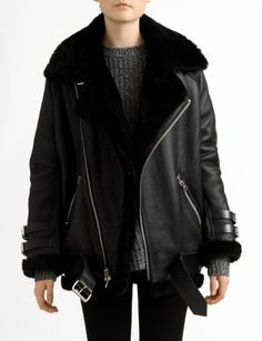 velocite shearling leather jacket