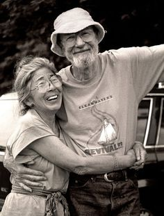 Pete Seeger and his wife Toshi