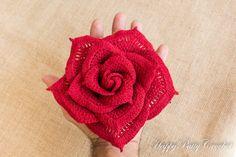 Crochet Rose Pattern Crochet Flower Pattern by HappyPattyCrochet