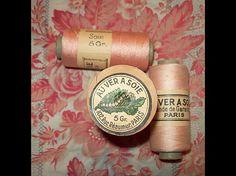 beautiful pink silk thread