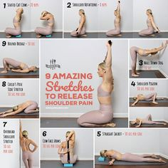 Amazing Stretches To Release Shoulder Pain Fix achy shoulder pain with these feel-good stretches you can do anywhere. Get all exercises hereFix achy shoulder pain with these feel-good stretches you can do anywhere. Get all exercises here Yoga Fitness, Health Fitness, Health Yoga, Fitness Memes, Workout Fitness, Fitness Diet, Yoga Shoulder, Shoulder Workout, Shoulder Yoga Stretches