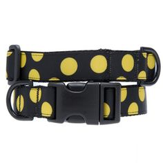 Polka Dot Collar Black Yellow, $22, now featured on Fab.