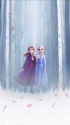 Frozen Queen Elsa and Anna, forest, 2019 wallpaper Frozen Disney, Princesa Disney Frozen, Frozen Film, Frozen 2 Wallpaper, Disney Phone Wallpaper, Iphone Wallpaper, Walt Disney Animation Studios, Frozen Pictures, Disney Pictures
