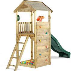 plum Holz Lookout Turm, Altersempfehlung: ab 3 Jahren. online kaufen | OTTO Diy Climbing Wall, Wooden Climbing Frame, Kids Climbing, Toddler Climbing Wall, Lookout Tower, Kids Outdoor Play, Kids Slide, Sand Pit, Backyard Playground