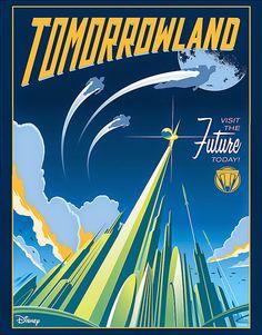 The Geeky Nerfherder: Cool Art: Retro Style Disney 'Tomorrowland' Posters