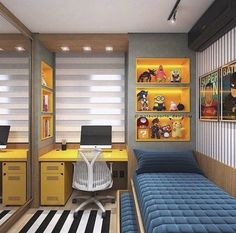 Boy's bedroom ideas and decor inspiration; from kids to teens Are you planning to decorate your boy's bedroom? If that is the case, you will need Boy Bedroom Ideas to get started. in bedroom boys Cool and Stylish Boys Bedroom Ideas, You Must Watch ! Cool Bedrooms For Boys, Boys Bedroom Decor, Small Room Bedroom, Trendy Bedroom, Girl Bedrooms, Boys Bedroom Ideas Teenagers Small Spaces, Teen Boy Rooms, Boys Bedroom Furniture, Master Bedrooms