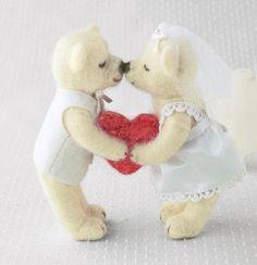 Happy Wedding Series Handmade Wedding Teddy by 1127handcrafter, $23.00