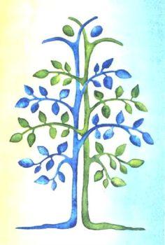 Life tree. Organ donation saves lives.