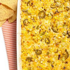Cheesy Corn Dip has all of our favorite summer flavors!
