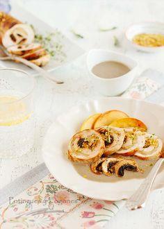 POTINGUES Y FOGONES: Pechuga rellena con salsa de champiñones al jerez
