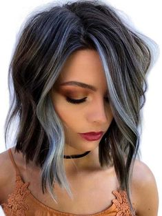 Sensational Blue Sky Balayage Bob Haircuts for 2018 - Short Bob Hair Styles Modern Bob Hairstyles, Winter Hairstyles, Short Hairstyles For Women, Messy Hairstyles, Hairstyles 2018, Medium Hairstyles, Woman Hairstyles, Fashion Hairstyles, Long Hairstyle