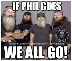 Phil Robertson duck dynasty. That is what FAITH,FAMILY means, you stick together. Blood is thicker than water--db