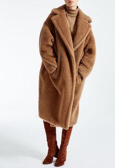 Faux Fur Teddybear Lamb Wool Coats - Brown or Red