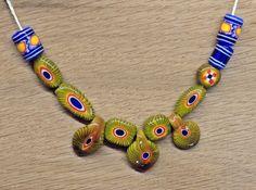 Mosaikaugenperlen. Kette vom Typ wie sie auch in Werchne Saltowo, Katakombe VII, Gr.1 gefunden wurde. http://entwerkstatt.de