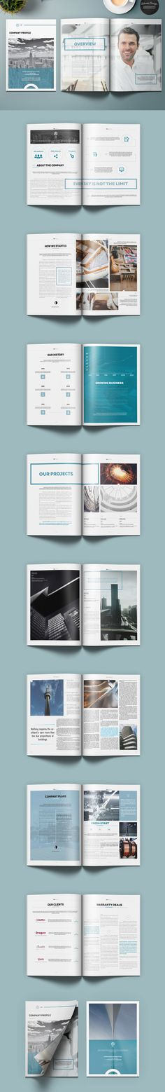 Tako Company Profile Brochure Template InDesign INDD                                                                                                                                                                                 More