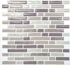 Amazon.com: Tic Tac Tile Anti-mold Peel and Stick Wall Tile in Random Brick Grey (10): Home & Kitchen