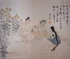 Shin Yun Bok or Hyewon : A beautiful tie between the tree in autumn / 삼추가연(三秋佳緣) 1805