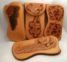 "Eyeglass Cases - Ed the""BearMan"" - Gallery - Leatherworker.net"