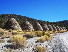 Wildrose Charcoal Kilns- Ten 25-foot high beehive-shaped kilns abandoned in Death Valley