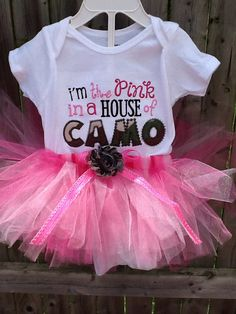 I'm The Pink In A House Of Camo Tutu Set by LittleSpitters13367, $25.00