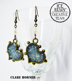 Make use of that little bit of leftover ICE Resin by making lovely earrings! Click on the image for Clare's tutorial.