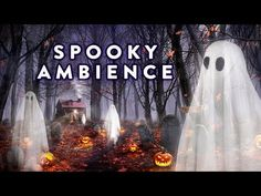 1 hour Spooky Halloween Ambience scene with a haunted forest graveyard, ghosts, owls, and other creepy but relaxing halloween sounds and spooky white nois. Spooky Music, Halloween Music, Halloween Scene, Halloween Party Themes, Outdoor Halloween, Halloween Activities, Spooky Halloween, Happy Halloween, Haunted Graveyard