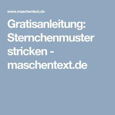 Gratisanleitung: Sternchenmuster stricken - maschentext.de