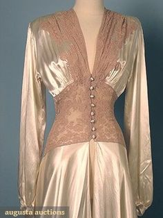 1940 -- this is almost exactly the same as my Mom s wedding-night peignoir 596da9d21