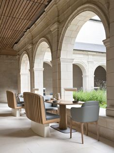 Fontevraud Le Restaurant, newly opened at the 12th-century Fontevraud Abbey in France's Loire Valley | Remodelista