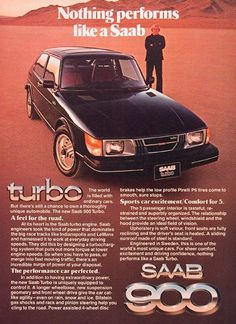 Ad for the Saab 900