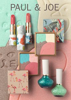 Paul & Joe Menagerie Spring 2015 makeup collection - I'm new to this line but it really has some interesting packaging.as for the makeup itself, I'll have to try an item out Mini Makeup, Cute Makeup, Fancy Makeup, Paul Joe, Makeup Package, Cosmetic Design, Too Faced, Latest Makeup, Beauty Packaging