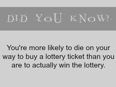 fun fact - lottery