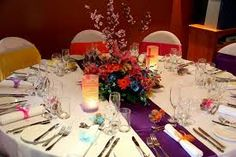 Image result for rainbow decor on tables