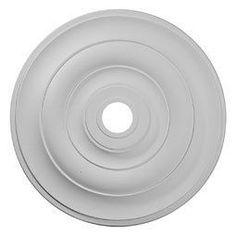 "Ekena Millwork CM26JE 26.5"" Wide Jefferson Ceiling Medallion White Accessory Ceiling Medallions Ceiling Medallions"