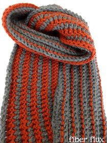 Fiber Flux...Adventures in Stitching: Free Crochet Pattern...The Every Man Scarf