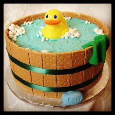 Rubber Duck Baby Shower Cake