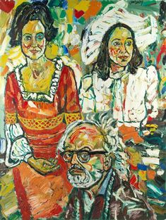 John Randall Bratby | Self Portrait with Jean Bratby in Two Outfits | MutualArt