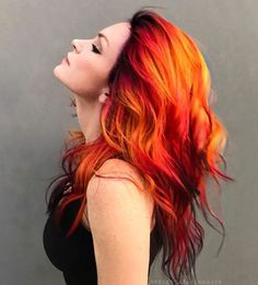 62163755 18 Great Hair Dye Touch Up Roots Hair Dye Platinum Blonde . Fire Ombre Hair, Fire Hair, Ombre Hair Color, Hair Dye Colors, Cool Hair Color, Red Ombre, Amazing Hair Color, Orange Ombre Hair, Creative Hair Color