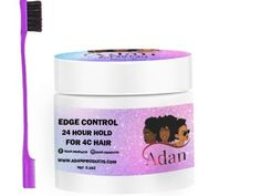 Adan edge control for hair with free brush. Twist Braid Hairstyles, Twist Braids, Wig Hairstyles, Hair Growth Oil, Natural Hair Growth, Natural Hair Styles, Best Edge Control, Barbie Doll Accessories, Hair Accessories