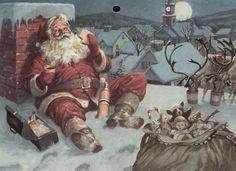 Vintage Santa vintage winter snow christmas merry christmas christmas pictures santa christmas ideas happy holidays santa claus merry xmas