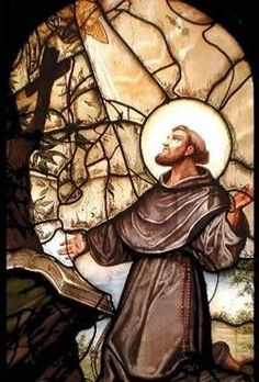 Francis of Assisi. I like this one because he is open-hearted, in a position of both humility and strength. I find the organic border pleasing. All this to say in awkward words, that this is my best. Where do I get the original from? Religious Photos, Religious Art, Catholic Saints, Patron Saints, St Francis Assisi, St Francisco, Clare Of Assisi, St Clare's, Jesus Is Lord