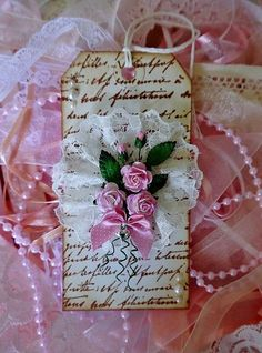 Beautiful shabby chic tag ♥
