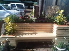 Planter Booth, Built Planter, Bench With Planters, Planter Box Bench, Seat  Planter