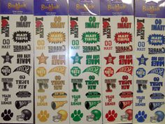 color war tattoos for camp