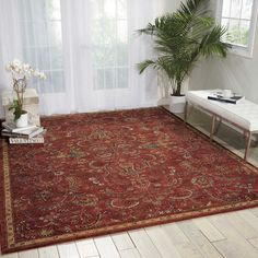 Mainville Red Area Rug