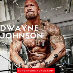 """Dwayne """"The Rock"""" Johnson's Workout Routine and Diet: How the Sexiest Man Alive Trains to be Superhero Jacked! Gym Workouts For Men, Workout Plan For Men, Gym Workout Tips, Workout Fitness, Workout Plans, Workout Couples, Hero Workouts, 300 Workout, Trainer Fitness"""