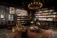 Rock and Relax Man Cave Decor - reminds me of Grooves record store in That 70s Show