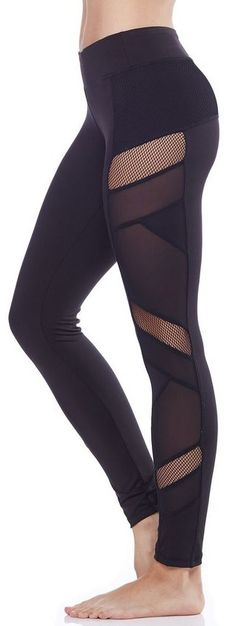 Sexy Mesh Panel Legging by carbon38.com
