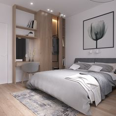 Beautiful Scandi Bedrooom with our fav Hay's About A Chair